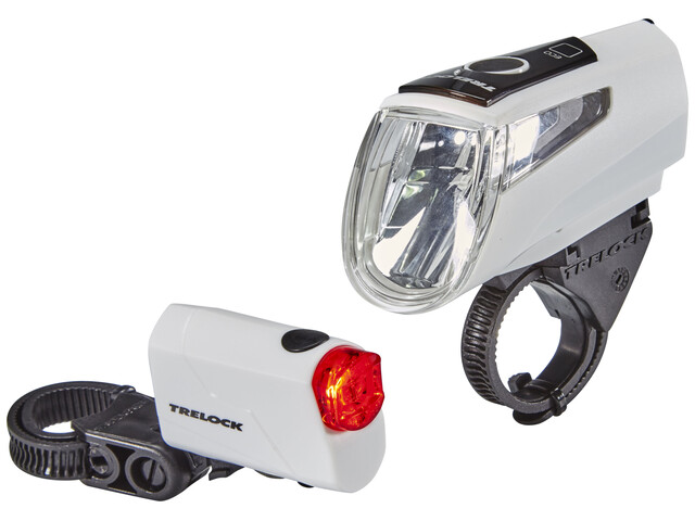 Trelock LS 460 I-GO POWER+LS 720 Bike Lights Sets white